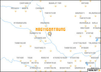 map of Magyigon Taung