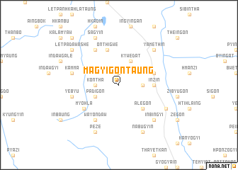 map of Magyigon Taung