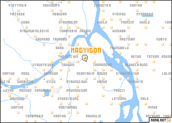 map of Magyigon