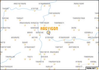 map of Magyigôn