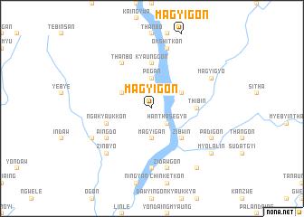 map of Magyigon