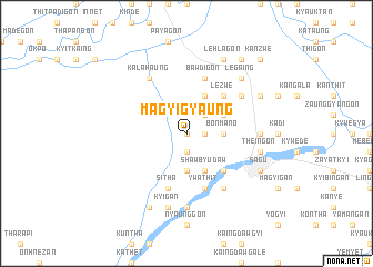 map of Magyigyaung