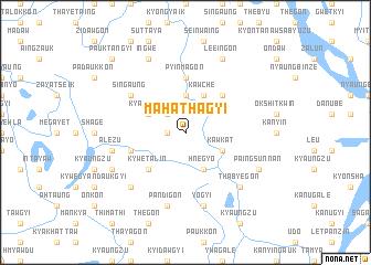 map of Mahathagyi