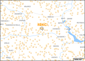 map of Mahići