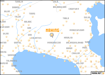 map of Mahing