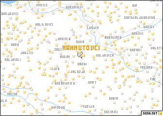 map of Mahmutovči