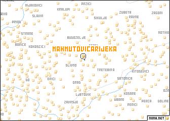 map of Mahmutovića Rijeka