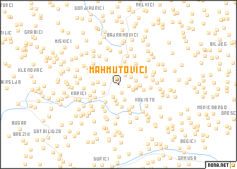 map of Mahmutovići