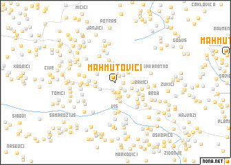 map of Mahmutovići