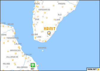 map of Mainit