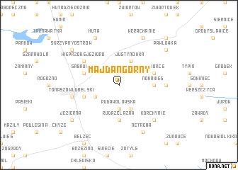 map of Majdan Górny