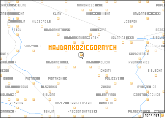 map of Majdan Kozic Górnych