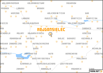 map of Majdan Sielec
