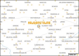 map of Majdan Stajne