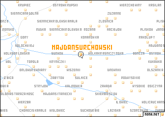 map of Majdan Surchowski