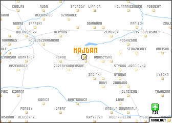 map of Majdan