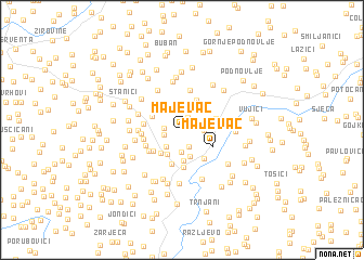 map of Majevac