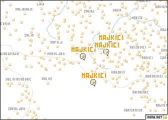 map of Majkići