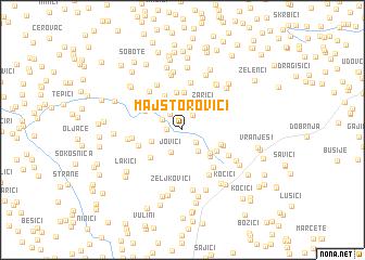 map of Majstorovići