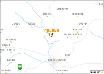 map of Majuba