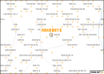 map of Maka Baye