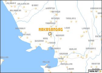 map of Makasandag