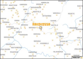 map of Makokossa