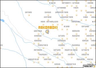 map of Makomboki
