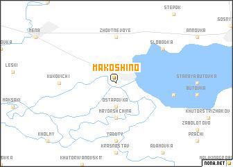 map of Makoshino