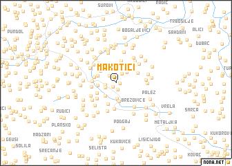 map of Makotići