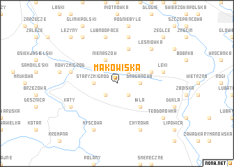 map of Makowiska