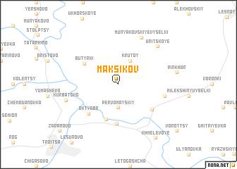 map of Maksikov