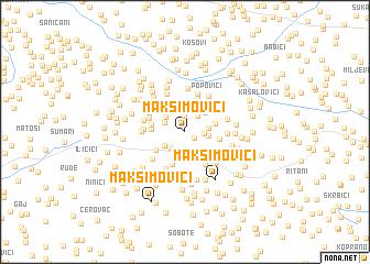 map of Maksimovići