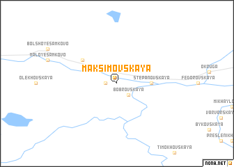 map of Maksimovskaya