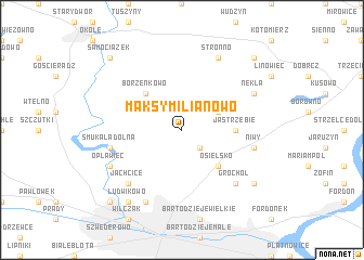 map of Maksymilianowo
