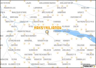 map of Maksymilianów