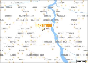 map of Maksymów