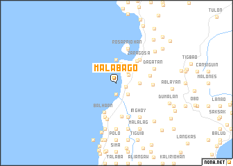 map of Malabago