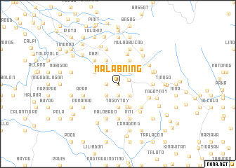 map of Malabning