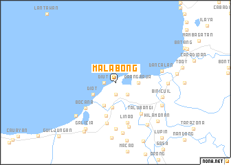 map of Malabong