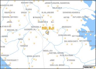 map of Malājī