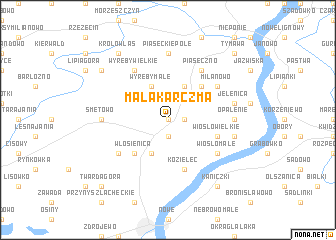 map of Mała Karczma