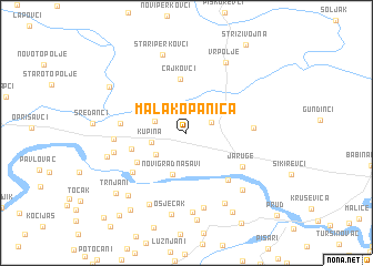 map of Mala Kopanica