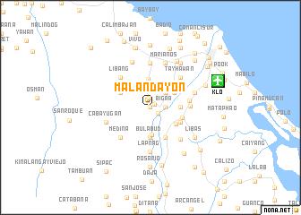 map of Malandayon