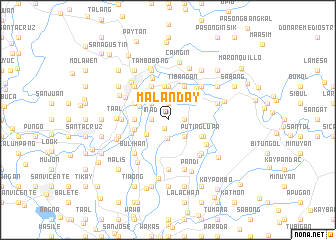map of Malanday