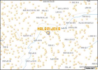map of Mala Rijeka