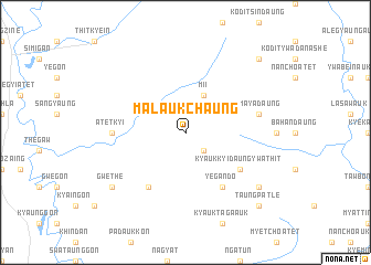 map of Malaukchaung