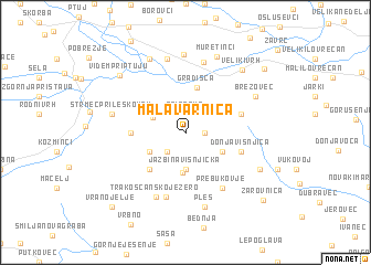 map of Mala Varnica
