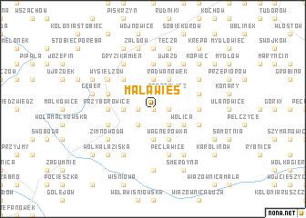 map of Mała Wieś