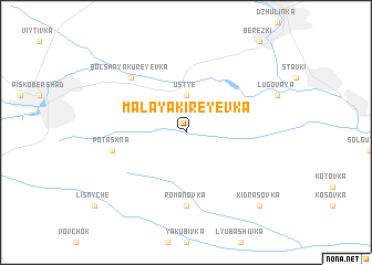 map of Malaya Kireyevka